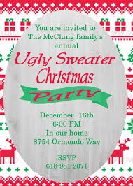 ugly sweater christmas party invitations new for 2017