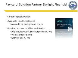 direct deposit card pay card solution dps paperless payroll ppt online