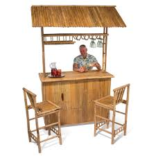 Tiki Outdoor Furniture by The Genuine Bamboo Tiki Bar Hammacher Schlemmer