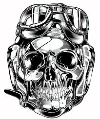 skull pistons harley davidson us on behance