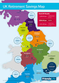 Leeds England Map by Infographic The Retirement Savings Map Your Money