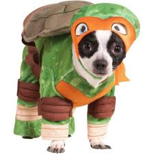 Michelangelo Ninja Turtle Halloween Costume Teenage Mutant Ninja Turtles Michelangelo Dog Costume Party