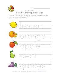 fruit writing worksheet home pinterest writing worksheets