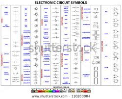 electronic circuit symbol vectors download free vector art