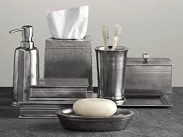 1 using gray bathroom accessories set for modern bathroom 2 ward