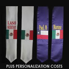 custom graduation sashes personalized hispanic flag stole graduation stoles