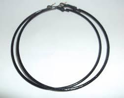 black hoop earrings black hoop earrings etsy