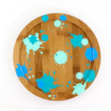 a kailo chic life diy it a faux splatter painted lazy susan