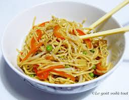 cuisiner des pates chinoises le goût voilà tout nouilles chinoises sautées aux petits légumes