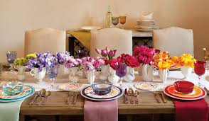 Table Setting Pictures by Create A Rainbow Table Setting