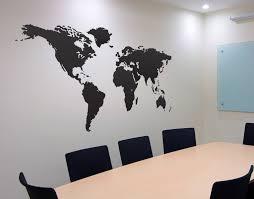 Wall Art World Map by Vinyl Wall Art Decal Sticker World Map 131