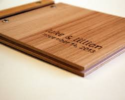 wood photo album wedding guest book small wedding wood guestbook engagement gift