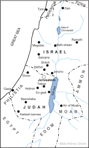 Biblical Map Of The Middle East by Map Of The Kingdoms Of Israel And Judah Bible History Online