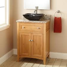 Narrow Vanity Table 24 Narrow Depth Halifax Bamboo Vessel Sink Vanity Bathroom