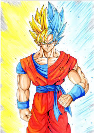 drawing goku super saiyan super saiyan blue