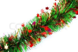 tinsel garland christmas tinsel garland with stock photo colourbox
