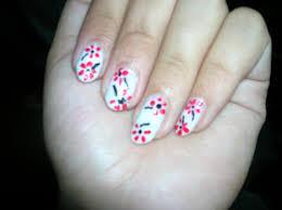 simple nail art flowersnailnailsart simple flower nail design