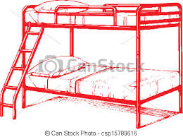 Bunk Bed Drawing Bunk Bed Vector Clip Search Illustration Drawings And Eps
