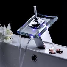 free shipping bathroom faucet basin faucet font b led b font three color temperature control tap jpg