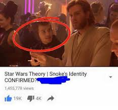 College Liberal Meme Identity - star wars theory l snoke s identity confirmed 1455778 views i 19k