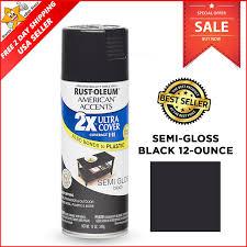 Semi Gloss Black Spray Paint Spray Paint Rust Oleum American Accents Ultra Cover Semi Gloss 12