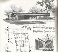 Atrium Ranch Floor Plans Vintage House Plans Mid Century Homes Large Homes Mid Century
