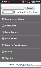 myxer free ringtones for android myxer free android app android freeware