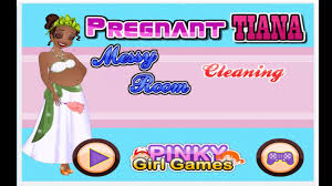 pregnant tiana messy room cleaning cartoon video game for girls