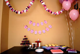 simple birthday party decorations at home first birthday decoration ideas at home for girl beautiful home