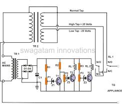 ac automatic voltage regulator circuit diagram readingrat for