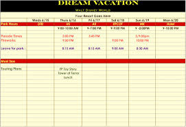 trip planner template disney vacation itinerary images reverse search filename walt disney world itinerary 1 jpg