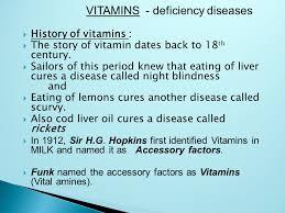 History Of Blindness By Sg Bhuvan Kumar Vitamins Deficiency Diseases History Of