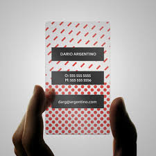 plastic business cards print peppermint