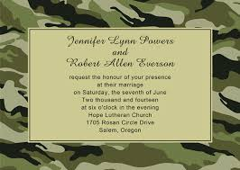 camouflage wedding invitations affordable classic camo theme wedding invitations ewi340 as low as