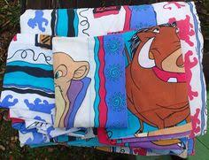 disney lion king pumba simba flat fitted pillowcase twin bed