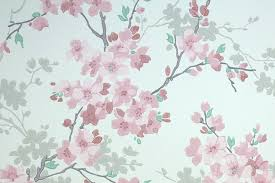 cherry blossoms and lanterns s treasures vintage wallpaper
