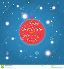 merry and happy new year 2016 wishes card stock vector