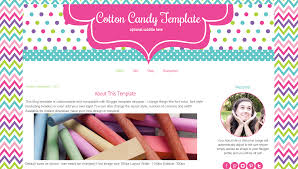 teacher blog template cotton candy