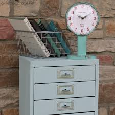 Chalk Paint On Metal Filing Cabinet Painted Metal Cabinet Makeover With Chalk Paint Girl In The