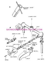 How To Remove Delta Kitchen Faucet by Faucet Delta Faucet Repair Diagram Single Handle Faucet Repair