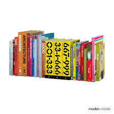 3d colorful design books cgtrader