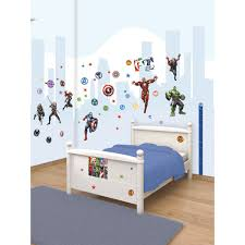 Liverpool Wall Stickers Walltastic Marvel Avengers Room Decor Wall Sticker Kit Bedroom