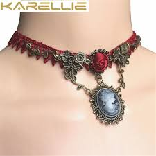 drop beads necklace images Karellie lace jewelry set red weave drop beads choker necklace jpg
