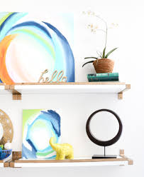 Small White Shelves by A Kailo Chic Life Hack It Gold And White Shelves