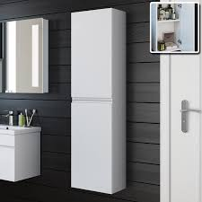 bathroom cabinets trent gloss white tall storage cabinet wall