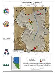 Arizona Temperature Map by Callegary Et Al 2016 San Pedro River Binational Report