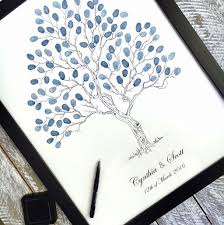 fingerprint guest book tree wedding tree alternative guest