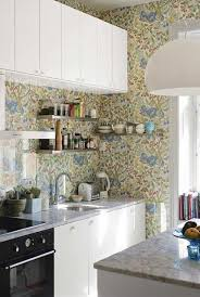 kitchen astonishing white kitchen wallpaper using gold floral