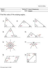worksheet on angles worksheets