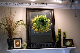 Easter Decorations Mantel by Chic On A Shoestring Decorating Easter Mantel On The Cheap